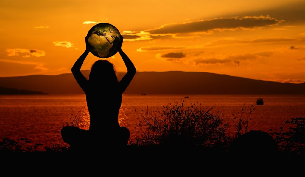 earth, meditation, world
