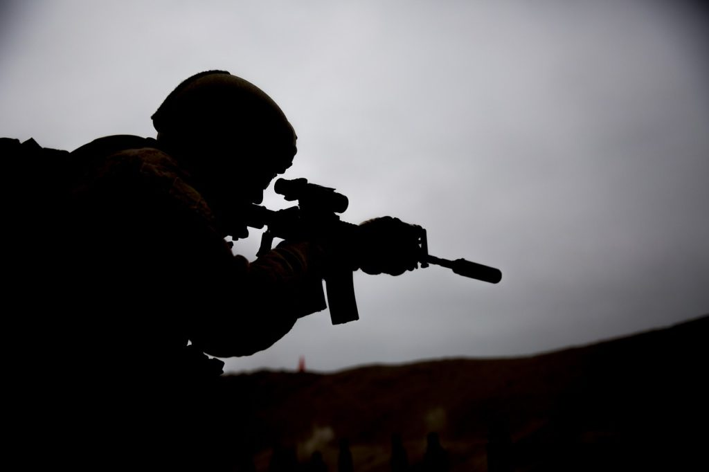 soldier, shooting, training